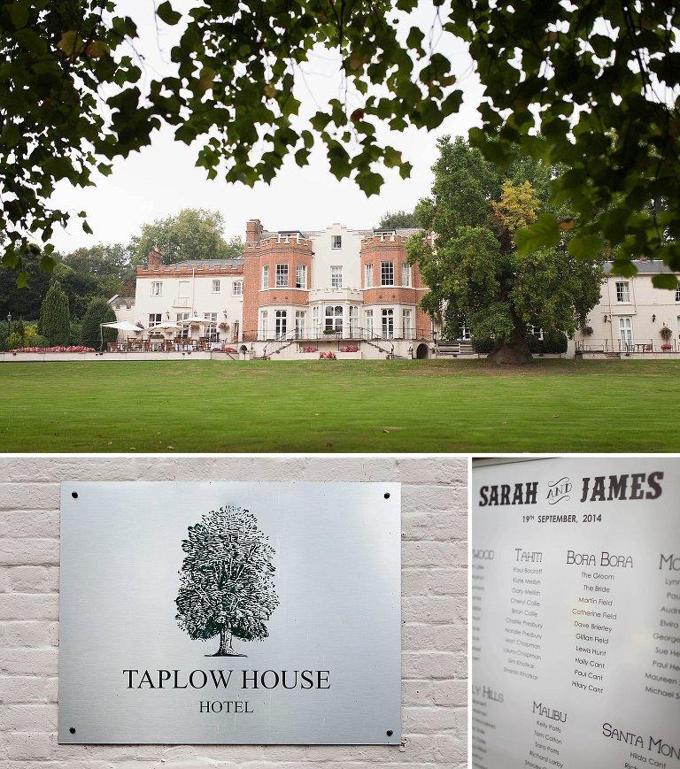 Taplow House Hotel Wedding