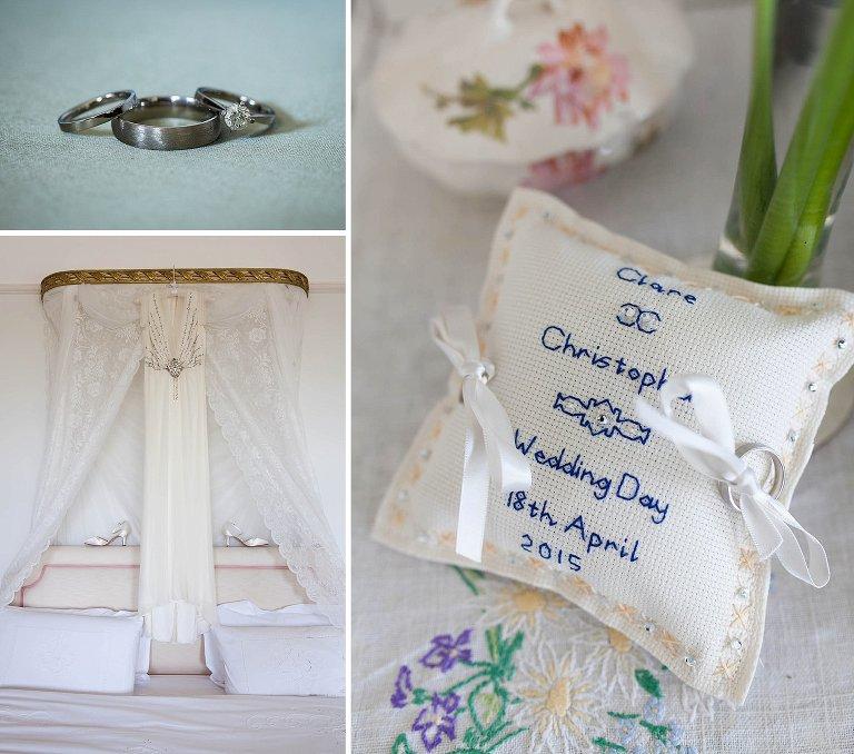 Bridal details at Poundon