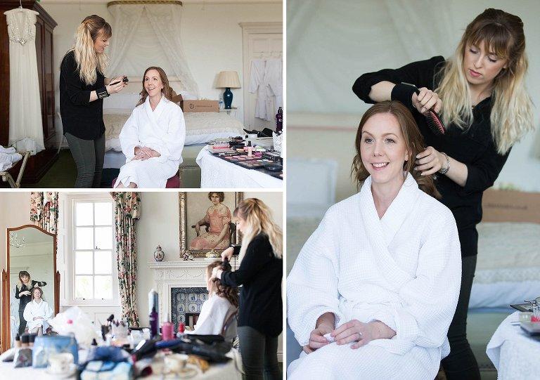 bridal preparations at Poundon House