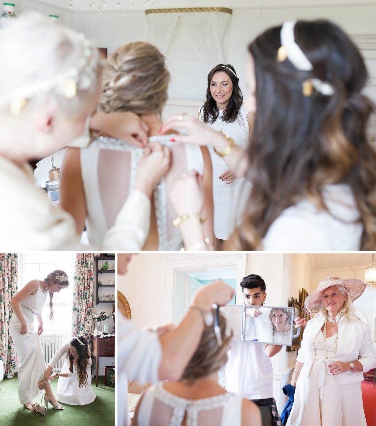 Poundon House bridal preparations
