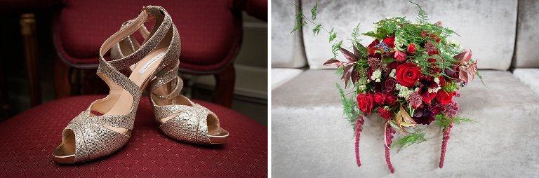 Cotswold wedding shoes and flowers