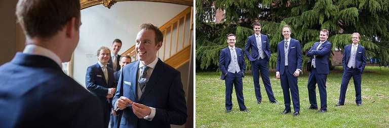 Surrey wedding - the guys getting ready