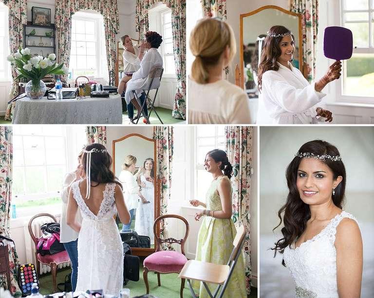 Poundon House wedding - bridal prep