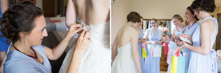 Bridal prep at Oxford Spires Hotel