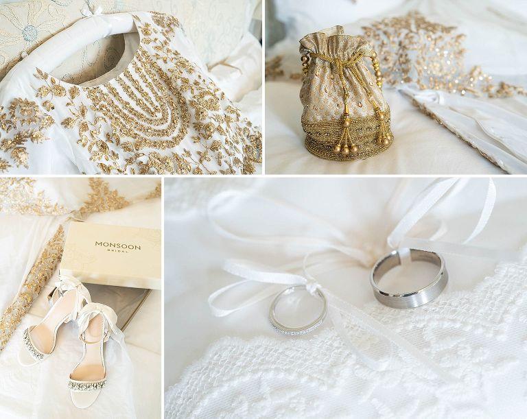 Wedding details at Poundon House