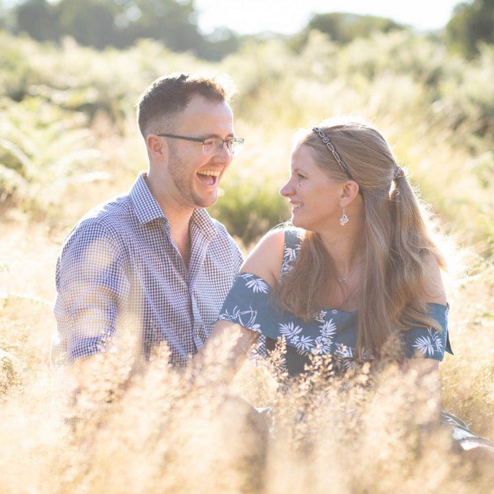 Octavia and Ben's Richmond Park Engagement Shoot